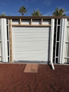 Shed Garage Doors closed